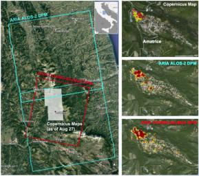A NASA-funded program provided valuable information for the response to the strong Aug. 24, 2016, earthquake in central Italy. The earthquake caused significant loss of life and property damage in the town of Amatrice.