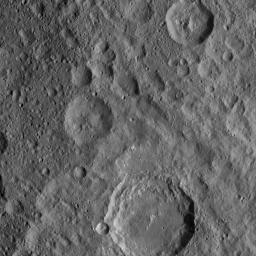 On Oct. 18, 2016, from its second extended-mission science orbit (or XMO2), at a distance of about 920 miles (1,480 kilometers) above the surface of Ceres, NASA's Dawn spacecraft spied Azacca Crater.