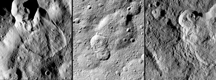 NASA's Dawn spacecraft has revealed many landslides on Ceres, which researchers interpret to have been shaped by a significant amount of water ice.