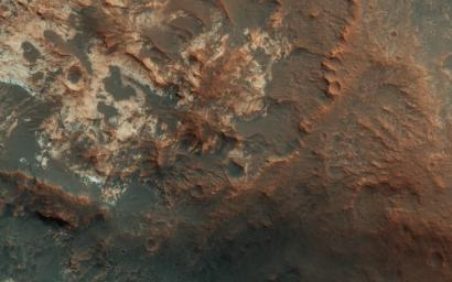 This image from NASA's Mars Reconnaissance Orbiter covers the entrance to Mawrth Vallis.