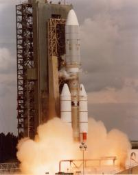 NASA's Voyager 2 spacecraft launched atop its Titan/Centaur-7 launch vehicle from Cape Canaveral Air Force Station in Florida on August 20, 1977, at 10:29 a.m. local time.