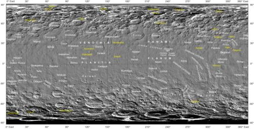 NASA's Dawn mission, together with the IAU, established that craters on Ceres would be named for agricultural deities, and other features from agricultural festivals. Here is an image showing the new names.