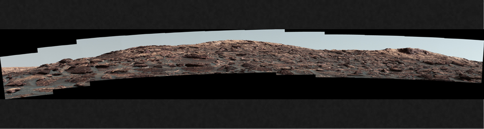 The Mastcam on NASA's Curiosity Mars rover captured this view of 'Vera Rubin Ridge' about two weeks before the rover started ascending this steep ridge on lower Mount Sharp.
