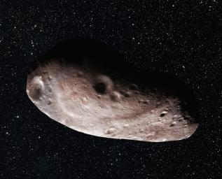 Artist's concept of Kuiper Belt object 2014 MU69, which is the next flyby target for NASA's New Horizons mission.