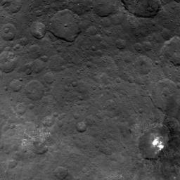 This image from NASA's Dawn spacecraft showing the northern part of Hanami Planum on Ceres honors the Japanese cherry blossom festival, or 'Hanami,' a long-standing Japanese tradition of welcoming spring.