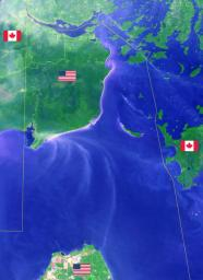 Minnesota's Northwest Angle is the northernmost point of the continental United States. The Angle became part of the US due to a map error during the 1783 Treaty of Paris. This image from NASA's Terra spacecraft was acquired September 22, 2013.