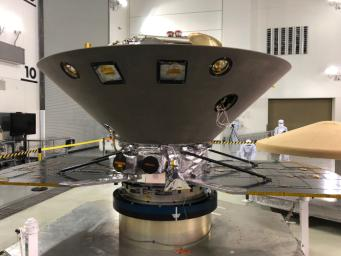 NASA's InSight to Mars undergoes final preparations at Vandenberg Air Force Base in Central California, ahead of its launch, expected as early as May 5, 2018.