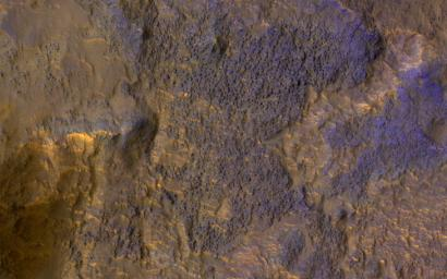 This image from NASA's Mars Reconnaissance Orbiter (MRO) shows chaos terrain on Mars' equator.