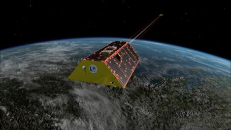 Illustration of the twin spacecraft of the NASA/German Research Centre for Geosciences (GFZ) GGRACE-FO mission. GRACE-FO will continue tracking the evolution of Earth's water cycle by monitoring changes in the distribution of mass on Earth.