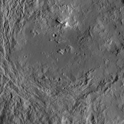 This image of Urvara Crater was obtained by NASA's Dawn spacecraft on May 20, 2018 from an altitude of about 920 miles (1480 kilometers).
