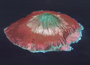 Tristan da Cunha is both a remote group of volcanic islands in the south Atlantic, and the main island. It is the most remote inhabited island group in the world. This image from NASA's Terra spacecraft was acquired was acquired October 7, 2017.