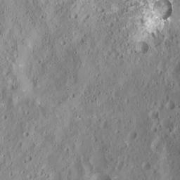 This image of Xevioso Crater was obtained by NASA's Dawn spacecraft on May 16, 2018 from an altitude of about 470 miles (760 kilometers).