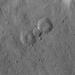 This image was obtained by NASA's Dawn spacecraft on May 30, 2018 from an altitude of about 465 miles (750 kilometers).