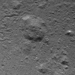 This image of a dome in Occator Crater on Ceres was obtained by NASA's Dawn spacecraft on July 5, 2018 from an altitude of about 32 miles (51 kilometers).
