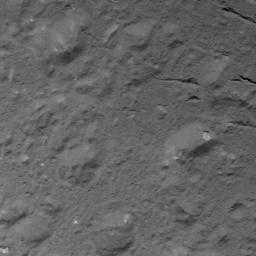 This image of domes and fractures in Occator Crater on Ceres was obtained by NASA's Dawn spacecraft on July 3, 2018 from an altitude of about 28 miles (44 kilometers).