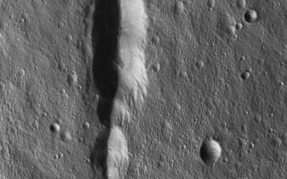 This image acquired on July 10, 2018 by NASA's Mars Reconnaissance Orbiter, shows a clear view of the summit of the giant volcano Elysium Mons.