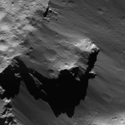 This image of a detached large block from Urvara Crater's rim on Ceres was obtained by NASA's Dawn spacecraft on July 16, 2018 from an altitude of about 35 miles (56 kilometers).