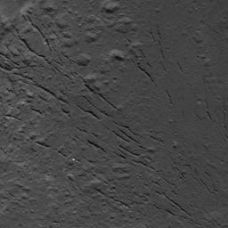 This image of a fracture pattern on the floor of Occator Crater on Ceres was obtained by NASA's Dawn spacecraft on July 25, 2018 from an altitude of about 87 miles (140 kilometers).