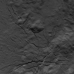This image of a fracture network on the floor of Occator Crater on Ceres was obtained by NASA's Dawn spacecraft on July 26, 2018 from an altitude of about 94 miles (152 kilometers).