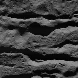 This image of deep fractures in Occator Crater on Ceres was obtained by NASA's Dawn spacecraft on July 31, 2018 from an altitude of about 31 miles (50 kilometers).