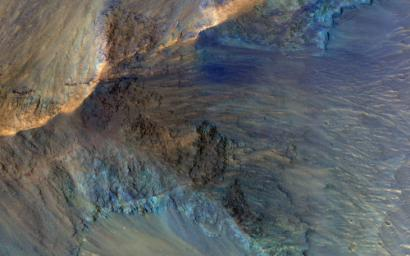 This image acquired on January 23, 2019 by NASA's Mars Reconnaissance Orbiter, shows some of the geologic diversity of Mars.