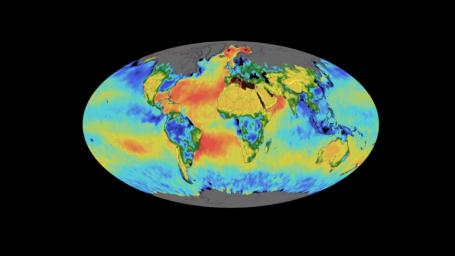 This animation shows a time lapse of sea surface salinity and soil moisture from NASA's Soil Moisture Active Passive (SMAP) satellite from April 2015 through February 2019.