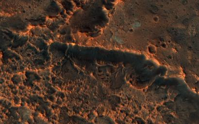 This image acquired on March 24, 2019 by NASA's Mars Reconnaissance Orbiter, revisits an impact site in this area first imaged in December 2017.