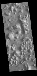 This image from NASA's Mars Odyssey shows part of Arena Colles. The term colles means hills.