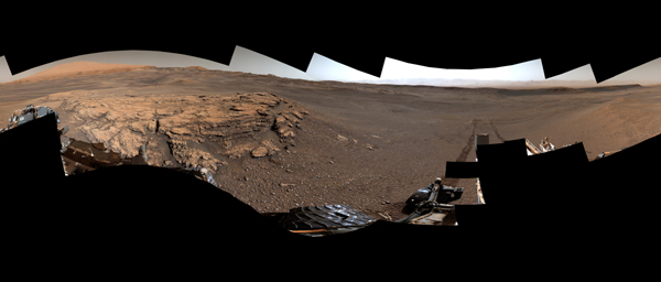 This 360-degree panorama of a location called 'Teal Ridge' was captured on Mars by the Mast Camera, or Mastcam, on NASA's Curiosity rover on June 18, 2019.