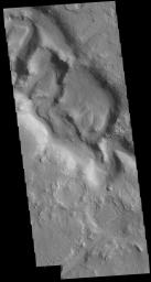 This image from NASA's Mars Odyssey shows part of Huo Hsing Vallis located in northern Terra Sabaea.