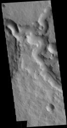 This image from NASA's Mars Odyssey shows part of Indus Vallis. Indus Vallis is 300km long (186 miles) and is located in Terra Sabaea.