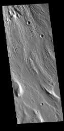 This image from NASA's Mars Odyssey shows a tributary channel of Ares Vallis.