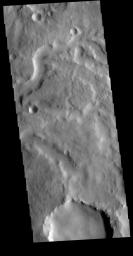 This image from NASA's Mars Odyssey shows one of the small channels in Locras Valles.
