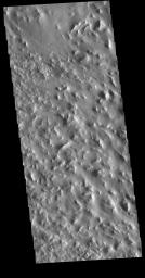 This image from NASA's Mars Odyssey shows a rugged region near the northern end of Gordii Dorsum.