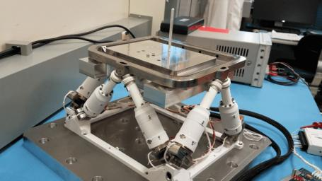 A device with six mechanical legs, the hexapod is a critical part of the PIXL instrument aboard NASA's Perseverance Mars rover. The hexapod allows PIXL to make slow, precise movements to get closer to and point at specific parts of a rock's surface.