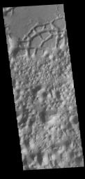 This image from NASA's Mars Odyssey shows Margaritifer Terra near Eos Chasma.