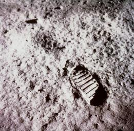 Buzz Aldrin took this iconic image of a bootprint on the Moon during the Apollo 11 moonwalk on July 20, 1969.