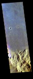 This image from NASA's Mars Odyssey shows part of Terra Sirenum.