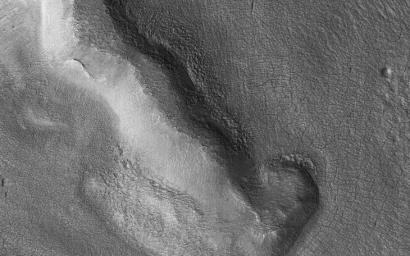 This image acquired on January 31, 2021 by NASA's Mars Reconnaissance Orbiter, shows Protonilus Mensae, a site of extensive glaciation.