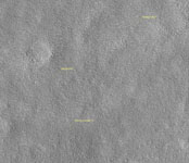 Click here for annotated version of PIA01882 Viking Lander 1 (Thomas A. Mutch  Memorial Station) Imaged from Orbit