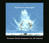 Click here for PIA02191 Annotated Comet Ejecta in Aerogel