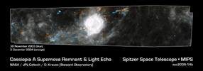 Figure 1: Composite of Supernova Remnant Cassiopeia A