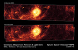 Figure 1: Supernova Remnant Cassiopeia A One Year Apart