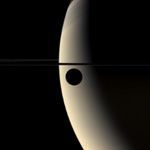 Click here for Quick Time movie of PIA07806 Rhea Transits Saturn