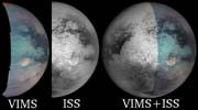 Three views of Titan�s Odd Spot
