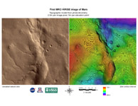 Click here for larger image of PIA08053 Annotated Topographic Map