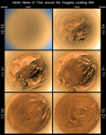 Click here for annotated version of PIA08112 Stereographic View of Titan's Surface