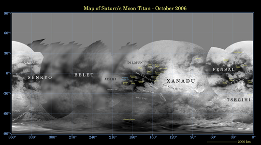 Click here for poster version of PIA08346 Map of Titan - December 2006