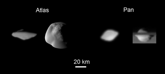 Click here for annotated version of PIA08405 Saturn's Saucer Moons