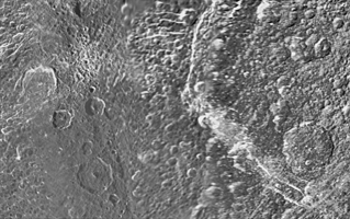 Click here for larger version of PIA08418 Unlabeled Padua Chasmata Terrain Section